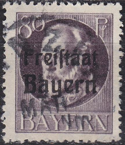 GERMANY Bayern Bavaria [1919] MiNr 0164 A ( O/used )