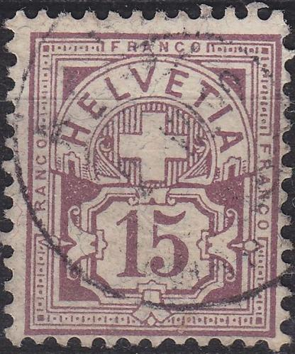 SCHWEIZ SWITZERLAND [1882] MiNr 0057 X a ( O/used ) [01]