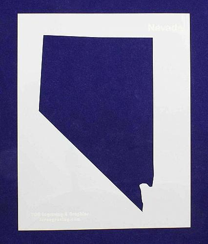 """State of Nevada Stencil 14 Mil 8"""" X 10"""" Painting /Crafts/ Templates"""