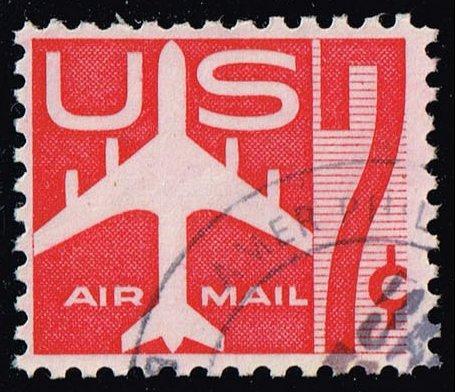 US #C60 Jet Airliner; Used (0.25) (3Stars) |USAC060-12