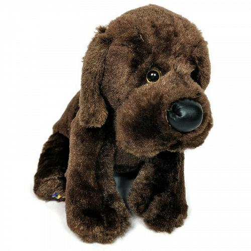 Ganz Webkinz Brown Chocolate Labrador Dog Plush Stuffed Animal HM138 10""