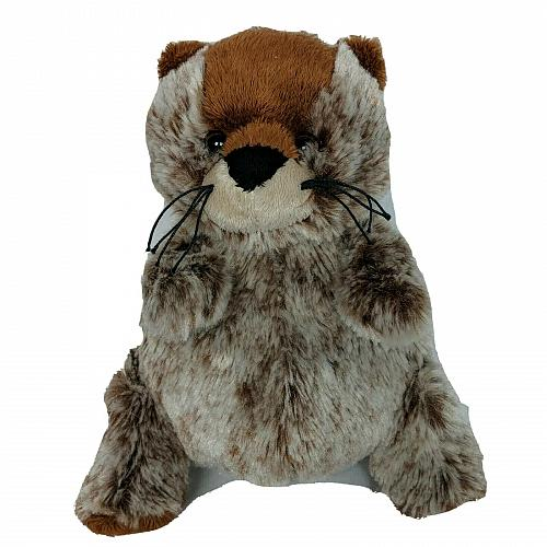 "Ganz Webkinz Ground Hog Brown Rodent Plush Stuffed Animal HM179 No Code 7.75"""