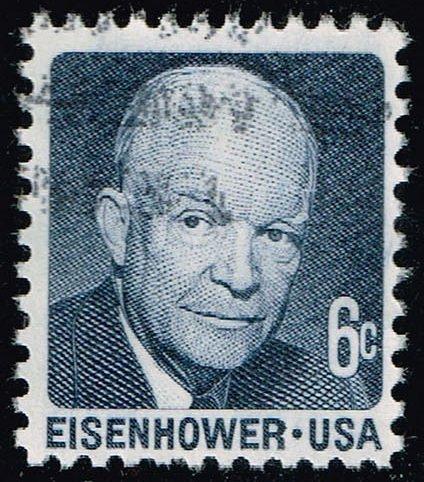 US #1393 Dwight D. Eisenhower; Used (2Stars)  USA1393-02