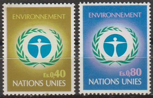 [UG0025] UN Geneva: Sc. no. 25-26 (1972) MNH Complete Set