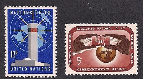 [UN0166] UN NY: Sc. No. 166-167 (1967) MNH Full Set