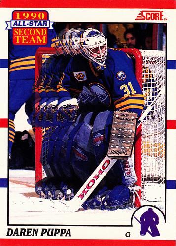 Daren Puppa #318 - Sabres 1990 Score Hockey Trading Card