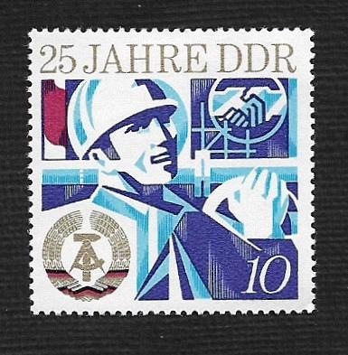 German DDR Hinged Scott #1549 Catalog Value $.25
