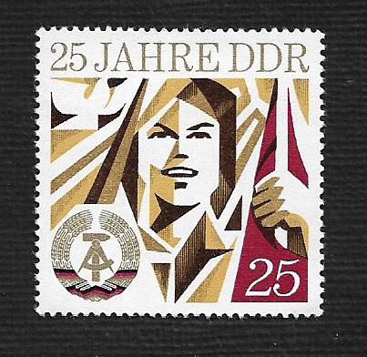 German DDR Hinged Scott #1551 Catalog Value $.25