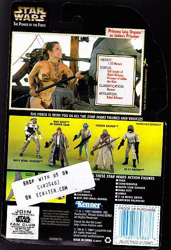"Star Wars - Princess Leia as Jabba's Prisoner - Action Figure 3.75"" - Brand New"
