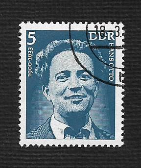 Germany DDR Used Scott #1625 Catalog Value $.25