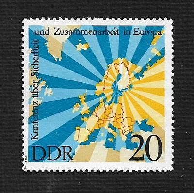 German DDR Hinged Scott #1669 Catalog Value $.35