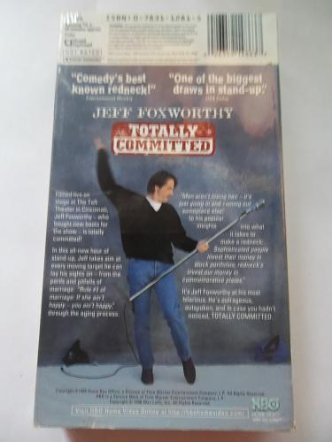 JEFF FOXWORTHY: TOTALLY COMMITTED (VHS) STAND UP COMEDY, PLUS FREE GIFT