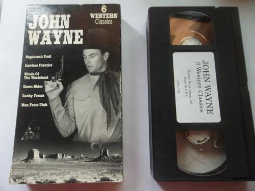 JOHN WAYNE 6 WESTERN CLASSICS (VHS) JOHN WAYNE, PLUS FREE GIFT