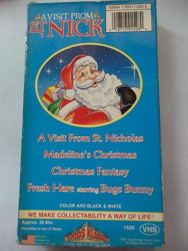 A VISIT FROM ST NICK (4 CARTOONS) (VHS), PLUS FREE GIFT