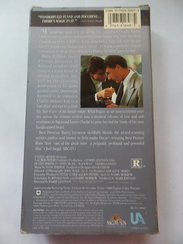 RAIN MAN (VHS) DUSTIN HOFFMAN, TOM CRUISE (DRAMA/THRILLER/SUS), PLUS FREE GIFT