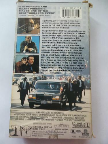 IN THE LINE OF FIRE (VHS) CLINT EASTWOOD (THRILLER/SUS/ACTION), PLUS FREE GIFT