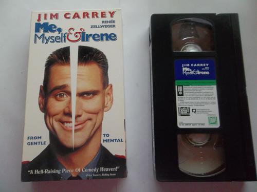 ME, MYSELF & IRENE (VHS) JIM CARREY (COMEDY/THRILLER), PLUS FREE GIFT