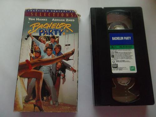 BACHELOR PARTY (VHS, ) TOM HANKS, ADRIAN ZMED (COMEDY/ADVENTURE), PLUS FREE GIFT