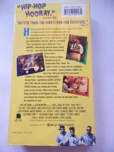 HOUSE PARTY 2 (VHS) KID 'N PLAY, FULL FORCE (COMEDY), PLUS FREE GIFT