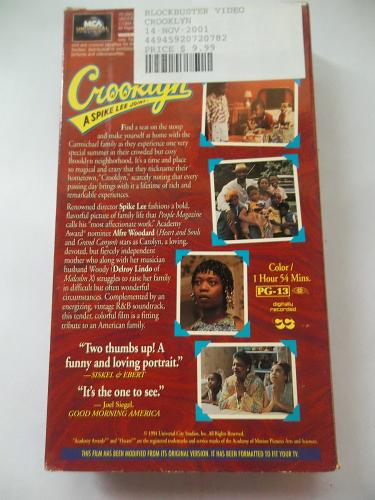 CROOKLYN (VHS) ALFRE WOODARD (DRAMA/THRILLER), PLUS FREE GIFT