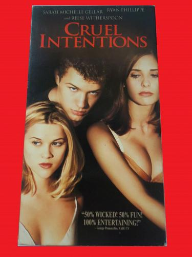 CRUEL INTENTIONS (VHS) RYAN PHILLIPPE (ROMANTIC DRAMA/THRILLER), PLUS FREE GIFT
