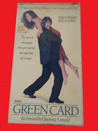 GREEN CARD (VHS) GERARD DEPARIEU, ANDIE MCDOWELL (ROM CMDY), PLUS FREE GIFT