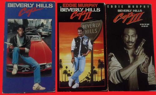 BEVERLY HILLS COP TRILOGY (VHS) EDDIE MURPHY (ACTION/COMEDY), PLUS FREE GIFT