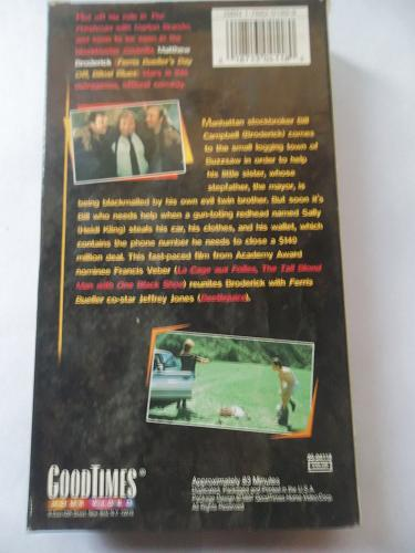 OUT ON A LIMB (VHS) MATTHEW BRODERICK, JEFFREY JONES (COMEDY), PLUS FREE GIFT