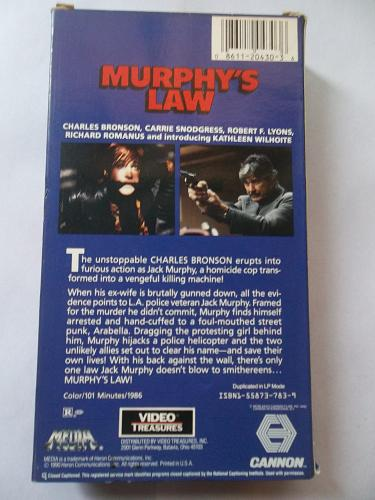 MURPHY'S LAW (VHS) CHARLES BRONSON (ACTION/THRILLER), PLUS FREE GIFT