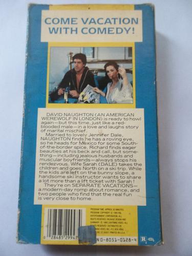 SEPARATE VACATIONS (VHS) DAVID NAUGHTON, JENNIFER DALE (CMDY), PLUS FREE GIFT