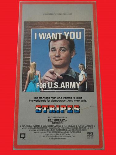 STRIPES (VHS) BILL MURRAY (COMEDY), PLUS FREE GIFT