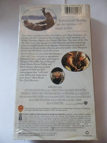 GRUMPY OLD MEN (VHS) JACK LEMMON, WALTER MATTHAU (COMEDY), PLUS FREE GIFT