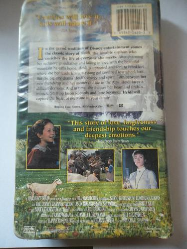 HEIDI (VHS) NOLEY THORNTON, JASON ROBARDS (FAMILY/CLASSIC), PLUS FREE GIFT
