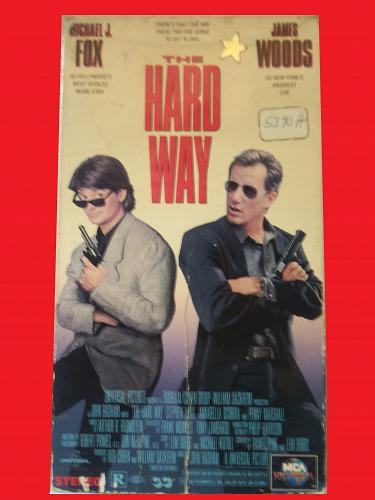THE HARD WAY (VHS) MICHAEL J FOX, JAMES WOODS (ACTION/COMEDY), PLUS FREE GIFT