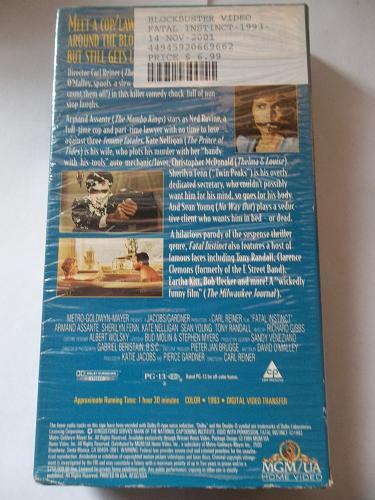 FATAL INSTINCT (VHS) ARMAND ASSANTE (COMEDY/THRILLER), PLUS FREE GIFT