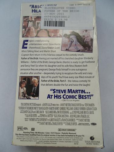 FATHER OF THE BRIDE: PART II (VHS) STEVE MARTIN (COMEDY/ADVEN), PLUS FREE GIFT