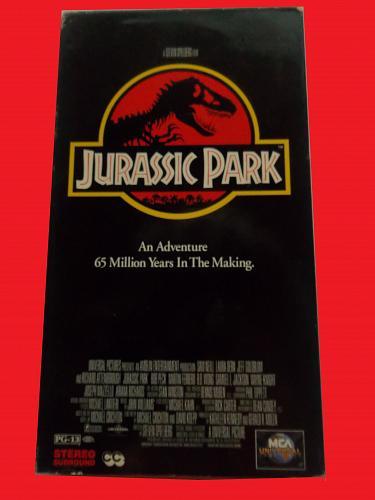 JURASSIC PARK (VHS) SAM NEILL (ACTION/ADVENTURE/THRILLER), PLUS FREE GIFT