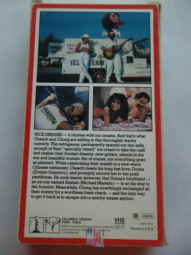 NICE DREAMS (VHS) CHEECH & CHONG (COMEDY/THRILLER), PLUS FREE GIFT