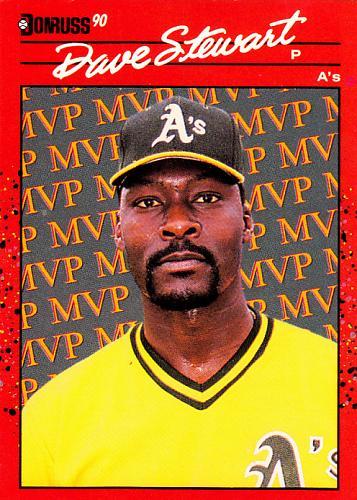 Dave Stewart #BC-3 - Athletics 1990 Donruss Baseball Trading Card
