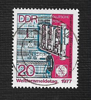 Germany DDR Used Scott #1813 Catalog Value $.25