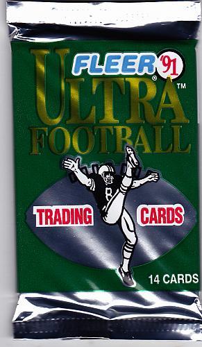 Fleer Ultra 1991 Football Cards Factory Sealed Pack