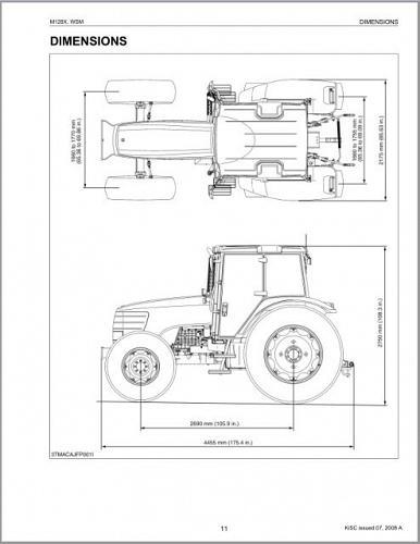 Kubota M128X Tractor WSM Service Repair Workshop Manual CD