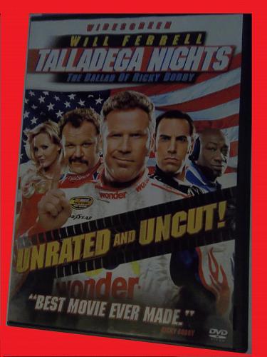 TALLADEGA NIGHTS THE BALLAD OF RICKY BOBBY (FREE DVD) WILL FERRELL, PLUS FREE GIFT