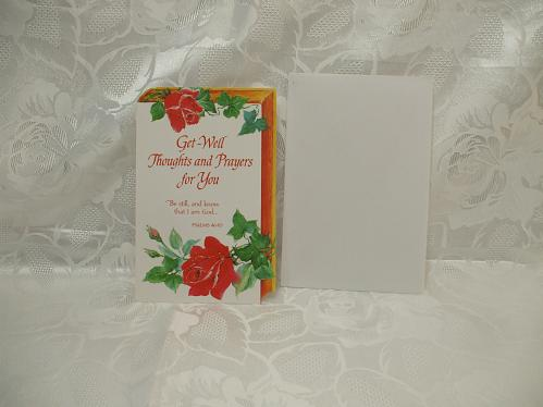 Get Well Card And Envelope
