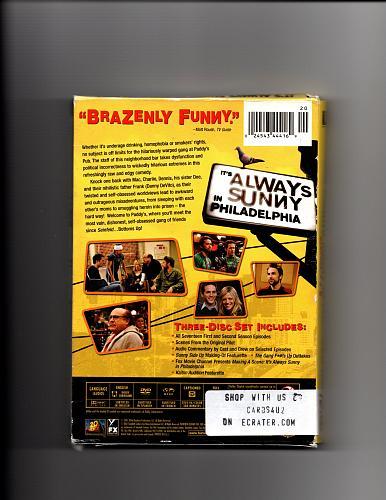 Its Always Sunny in Philadelphia - Complete 1st & 2nd Season DVD 2009, 3-Disc Set - V