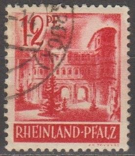 [GS6N20] German States (Rhine-Palatinate) Sc. no. 6N20 (1948) Used