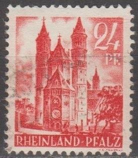 [GS6N08] German States (Rhine-Palatinate) Sc. no. 6N8 (1948) Used