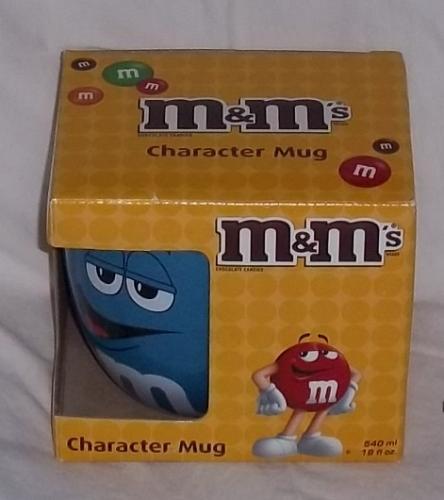 m & m big face ceramic barrel mug