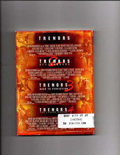 Tremors 1 2 3 & 4 Attack Pack DVD 2005 - Very Good