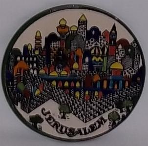 Jerusalem decorative wall plate
